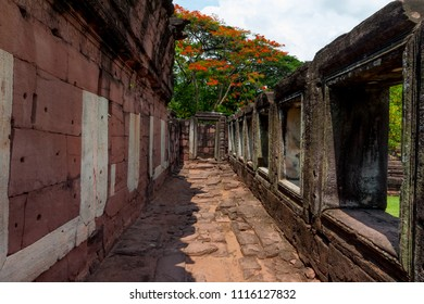 Prasat Hin Phimai, historical park and ancient stone castle in Nakhonratchasima, Thailand.