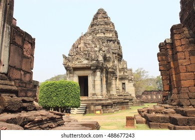 Prasat Hin Phimai ,Phimai Historical Park ,Thailand. The ancient architecture , Buddhist sculpture. One of the biggest and most important religious sanctuary found in Thailand. Khmer architecture.