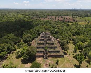 Prasat Koh Ker , Koh Ker Temple in beautiful drone shot - Shutterstock ID 2000858015