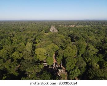 Prasat Koh Ker , Koh Ker Temple in beautiful drone shot - Shutterstock ID 2000858024