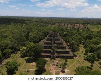 Prasat Koh Ker , Koh Ker Temple in beautiful drone shot - Shutterstock ID 2000858027