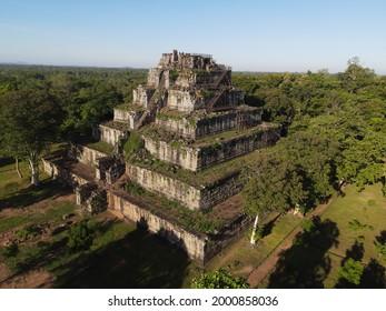 Prasat Koh Ker , Koh Ker Temple in beautiful drone shot - Shutterstock ID 2000858036