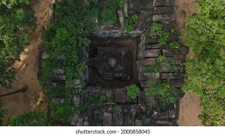 Prasat Koh Ker , Koh Ker Temple in beautiful drone shot - Shutterstock ID 2000858045