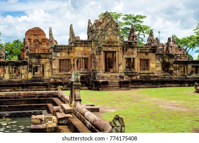 Prasat Muang Tam or the lower city castle, an ancient Khmer-style temple complex built in Buriram Province, Thailand, which is built in the 10th -11th century.