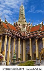 Prasat Phra Thep Bidon, the Royal Pantheon at Wat Phra Kaew, Bangkok, Thailand.
