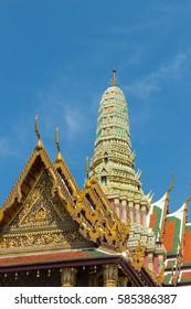 Prasat Phra Thep Bidon at Temple of the Emerald Buddha (Wat Phra Kaew), Grand Palace complex, Bangkok, Thailand