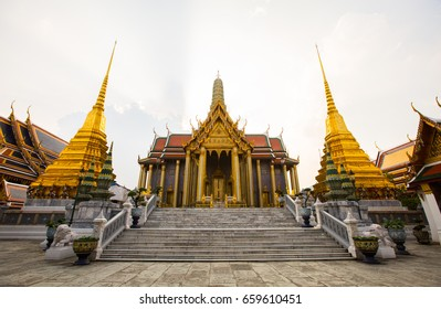 Prasat Phra Thep Bidon with two golden chedis