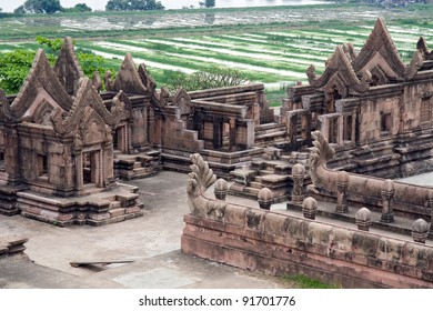 Prasat Phra Wihan (Preah Vihear) copies of temple in Ancient Siam. Samut Prakan, Thailand. Khmer temple ruins.