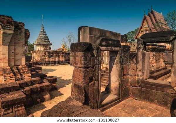 Prasat sa khamphaeng yai In Sisaket province, Thailand.