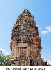 Prasat Sdok Kok Thom The Historical Park in Thailand, Is An Ancient Khmer Hindu Temple Dedicated Shiva Made From Red Laterite Brick and Sandstone.