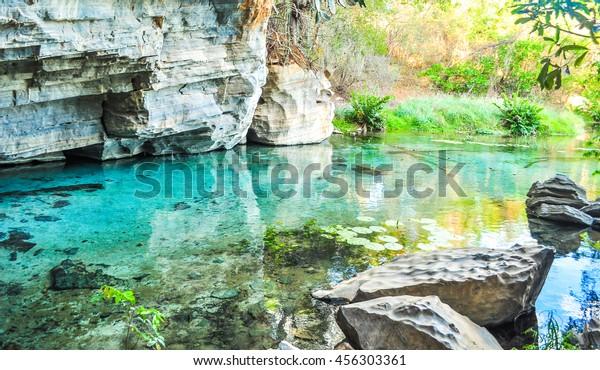 Pratinha Grotto in Chapada Diamantina, Brazil