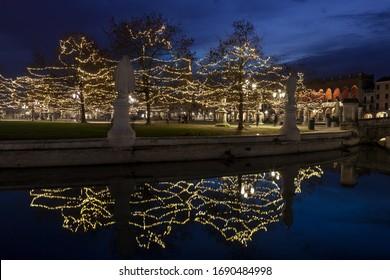 Prato della Valle in Padua, Italy Christmas time