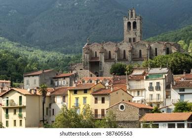 Prats-de-Mollo-la-Preste (Midi-Pyrenees, Languedoc-Roussillon, France), historic town in the French Pyrenees - Shutterstock ID 387605563