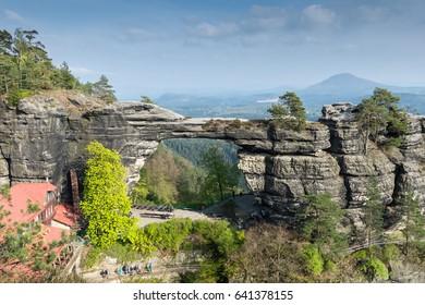 Pravcicka brana - the biggest natural sandstone arch in Europe