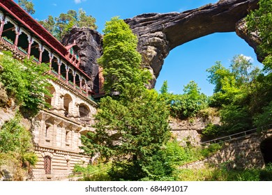 Pravcicka Brana - famous sandstone natural bridge in the National Park Bohemian Switzerland, Czech Republic