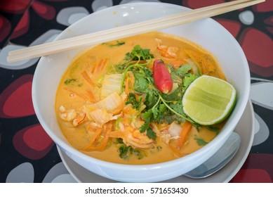 Prawn Laksa, one of the best Asian cuisine in Australian taste.