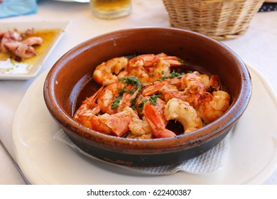 prawn in plate at Casa isabel in valencia