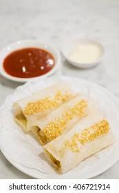 Prawn sesame fritterswith sweet chili sauce