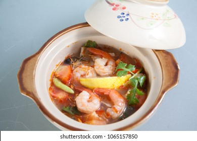 prawn tom yum soup chinese thai asian food