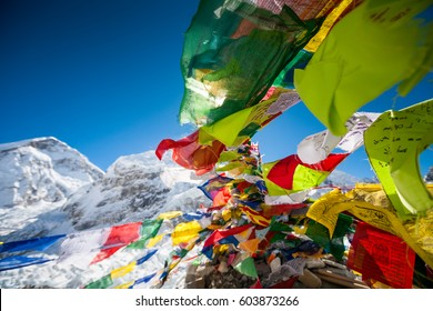 Pray flags in Everest base camp