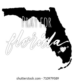 Pray For Florida Typography Design