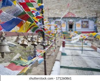 Prayer flag on highest highway mountain, Leh Ladakh