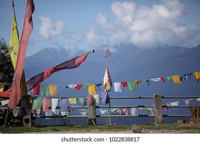 Prayer flags in Bhutan.