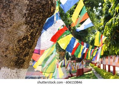 Prayer flags, Bodhgaya, Bihar, India