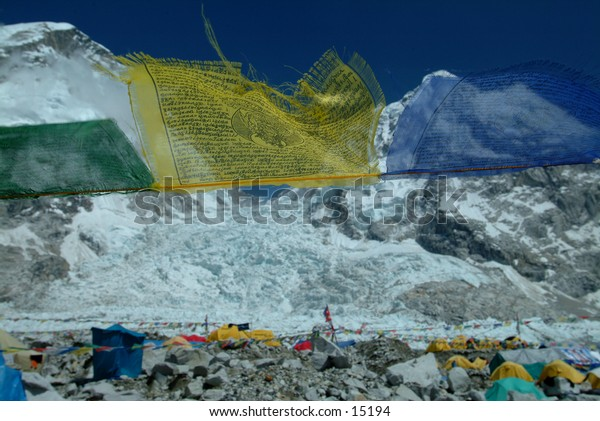 Prayer Flags at Mount Everest Base Camp - 1
