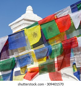 prayer flags an stupa