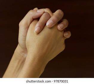 prayer hand waiting for an answer