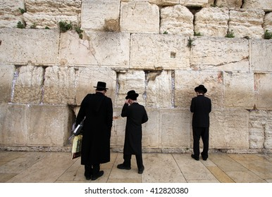 Prayer at the Western Wall of Temple