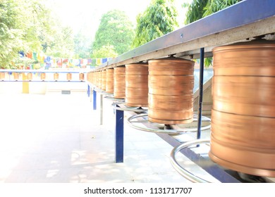 Prayer wheels are used to accumulate wisdom and merit (good karma) and to purify negativeness (bad karma)