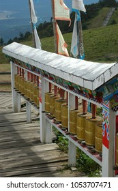Prayer wheels in Yunnan (China)