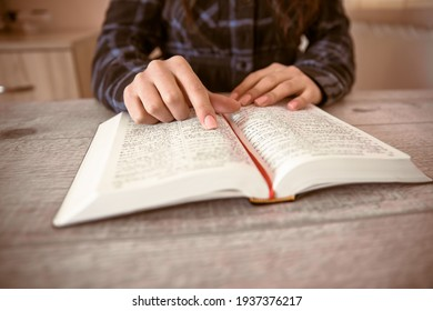 prayer young woman reading Holy Bible