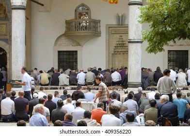 Prayers at Gazi Husrev-beg Mosque - Sarajevo - Bosnia Herzegovina
