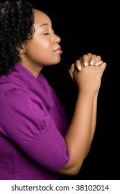 Praying Black Woman