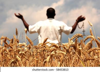 Praying for good harvest