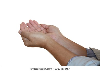 Praying Hands, isolated on white background