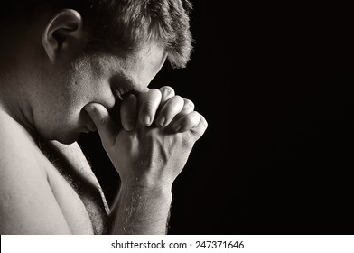 Praying man.