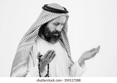 Praying middle eastern man