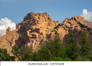 The Praying Monk rock formation on the north side of Camelback Mountain in Phoenix