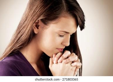 Praying, Religion, Teenage Girls.