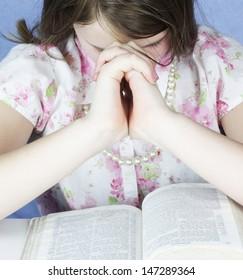 Praying and studying