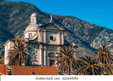 Prcanj, Montenegro The Bay of Kotor. Church of the Nativity of the Virgin.