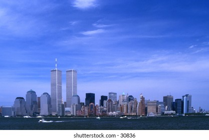 Pre 911 New York Skyline