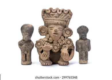 Pre Columbian warriors made around 600 AD.