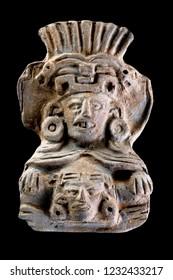 Pre Columbian Zapotec urn warroir deity made around 700-100 AD.