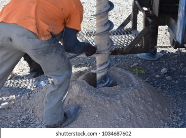 Pre Construction Industrial Activity - Drilling Helper Working on Auger Rig