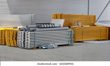 Pre Fabricated Steel Beams For Racks and Shelves in Distribution Warehouse